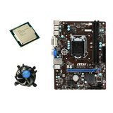 Kit Placa de Baza Refurbished MSI H81M-P33, Intel Dual Core G3440, Cooler